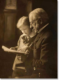Harvard President Charles W. Eliot with grandson.