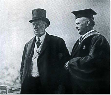 Dean Wallace Brett Donham and George F. Baker at the Campus Dedication, June 4, 1927.