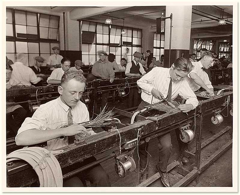 factory cabling department ca 1925 � the human relations