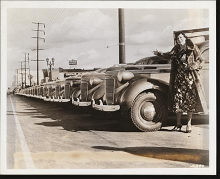 What is believed to be a record for motor cars delivered to separate retail purchasers in a single day was achieved by Angeles Motors, Chrysler and Plymouth dealer of Los Angeles, California, on Christmas day, 1936. On that morning 47 new cars were placed in the hands of owners. They represented 47 distinct buyers, no tow of whom were even in the same family.