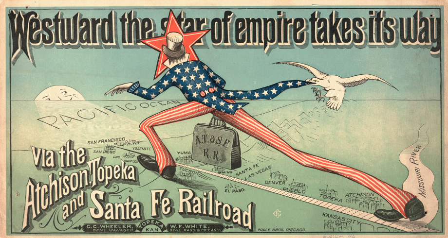 Modern Capitalism Mergers And Syndicates - Atchinson topeka and santa ferailroad on the us map