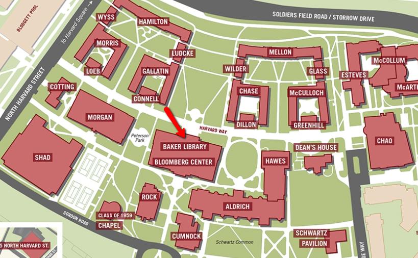 map of harvard campus Visit Contact Us Baker Library Bloomberg Center Harvard map of harvard campus