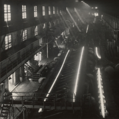 Interior view of rail mill--Gary Works