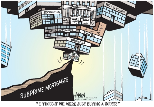 I thought we were just buying a house! R.J. Matson Editorial Cartoon. Courtesy of CagleCartoons.com.