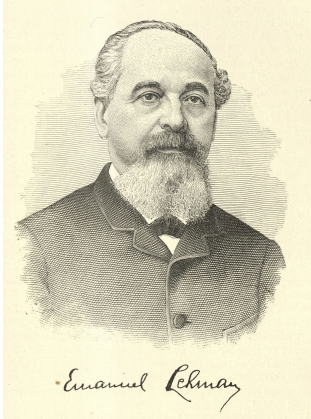 Engraving of Emanuel Lehman. Hall, Henry. America's Successful Men of Affairs. An Encyclopedia of Contemporaneous Biography. New York: New York Tribune, 1895. Baker Library, Harvard Business School.