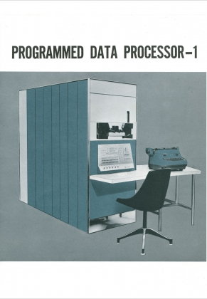 Digital Equipment Corporation. Programmed Data Processor-1 Brochure.  Kenneth H. Olsen Collection, on permanent loan from Gordon College. Baker Library, Harvard Business School.