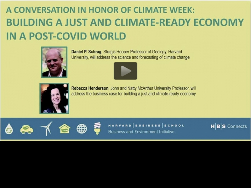 Building a Just and Climate-Ready Economy in a Post-COVID World